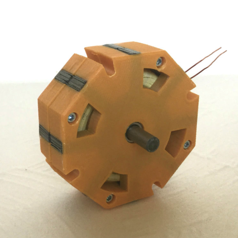 Free 3D printer files TFM 8 - 3d printed Transverse Flux Generator, TanyaAkinora