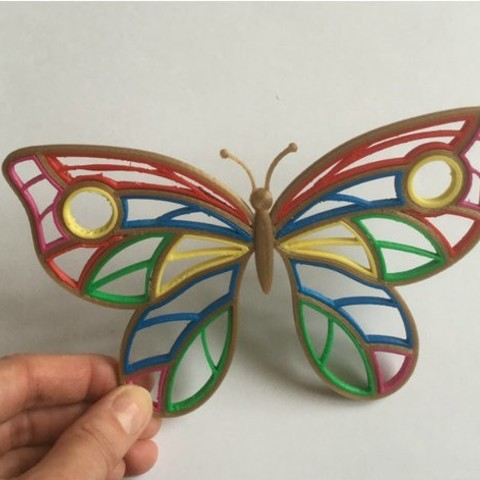 923d82c70d952a8487decf65b166a295_preview_featured.jpg Download free STL file Quilling Butterfly • 3D print template, TanyaAkinora