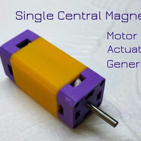 Free STL files Single Central Magnet  Motor Actuator Generator (SCM MAG), TanyaAkinora