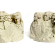 Download free 3D printing models Stylized Mount Rushmore, 3DLirious