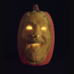 Free 3D printer designs Tim-O-Lantern, 3DLirious