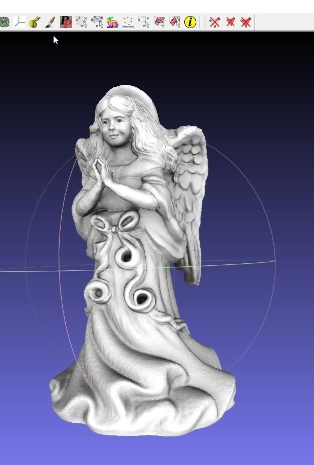 screenshot.8698.jpg Download free OBJ file ThriftStore Angel--Digitized!! Resculpt • 3D printing template, 3DLirious