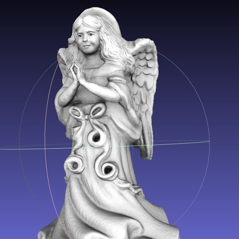 Download free 3D print files ThriftStore Angel--Digitized!! Resculpt, 3DLirious
