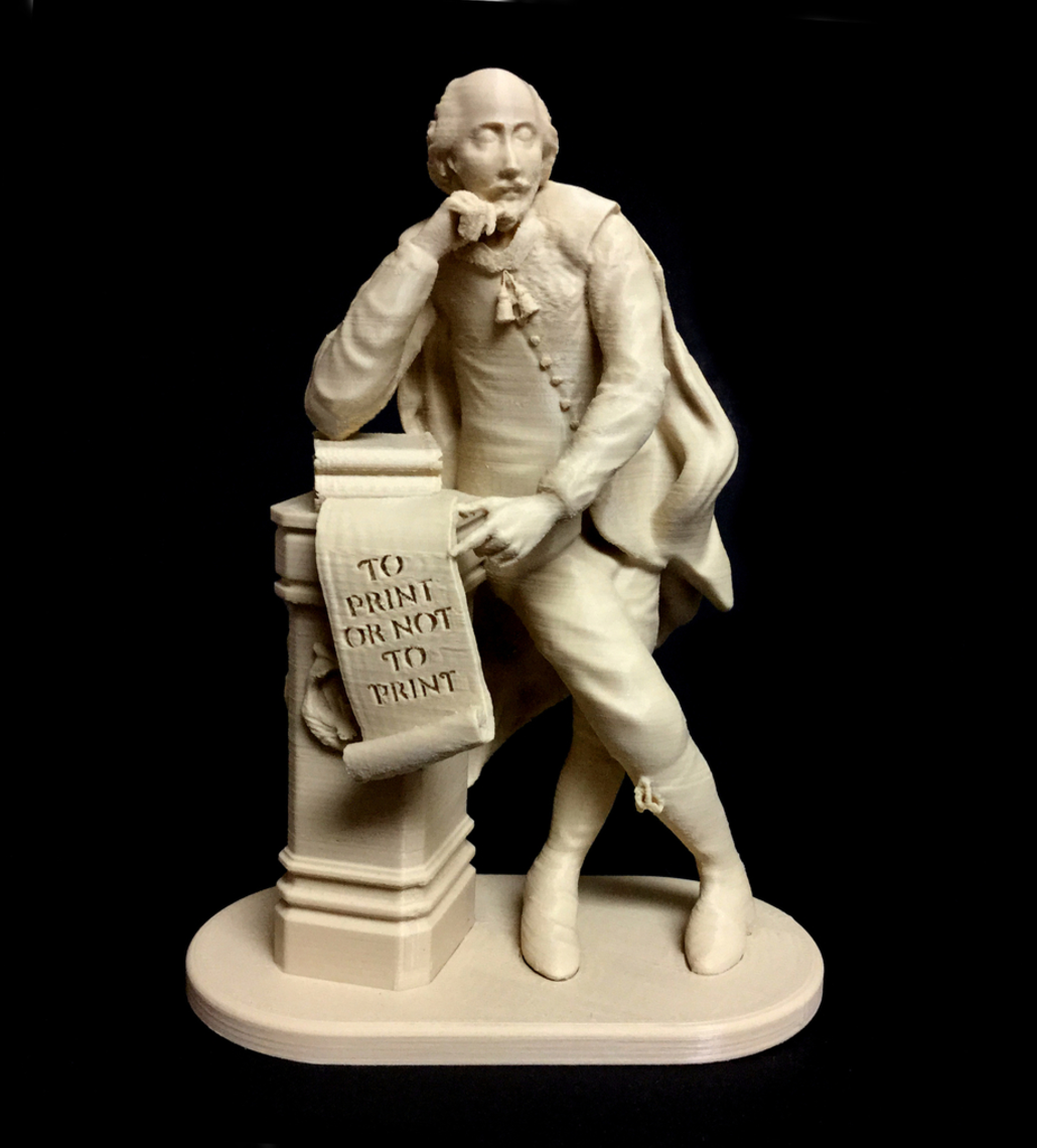 Capture d'écran 2017-09-21 à 13.01.05.png Download free STL file To Print Or Not To Print - Shakespeare at Leicester Square in London • 3D printable object, 3DLirious