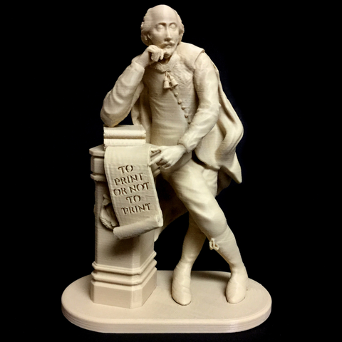 Free 3D printer model To Print Or Not To Print - Shakespeare at Leicester Square in London, 3DLirious