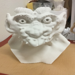 Free 3D printer designs Percival The Gargoyle Bust, 3DLirious