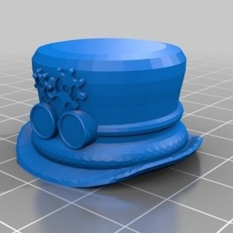 Download free 3D printer designs  Steampunk TopHat Pen Topper, 3DLirious