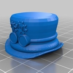 Free stl file  Steampunk TopHat Pen Topper, 3DLirious