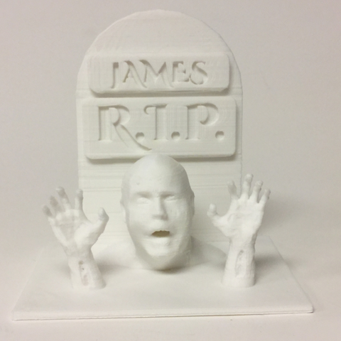 Free 3D print files Walking Dead Tombstone With Zombie Hands, 3DLirious