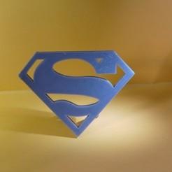 Descargar modelos 3D para imprimir Superman Logo Pregunta, Cybric