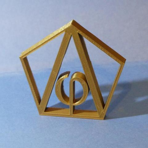 P1010414.jpg Download STL file Phi - Fi - Gold Number - gold number - dorado • 3D print object, Cybric