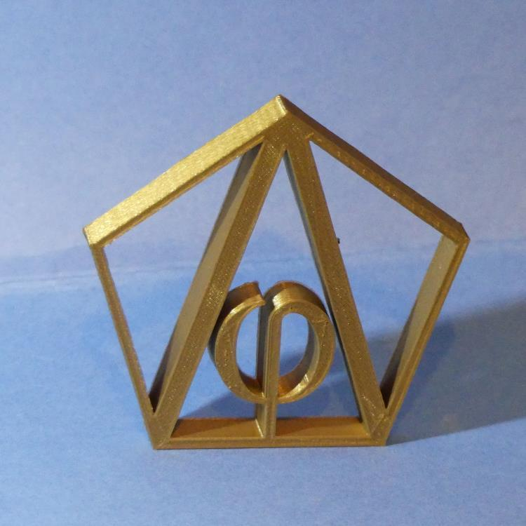 P1010412.jpg Download STL file Phi - Fi - Gold Number - gold number - dorado • 3D print object, Cybric