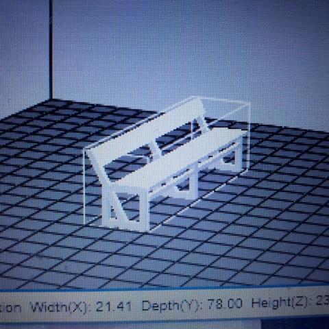 Download free STL file bench  • Model to 3D print, kfl