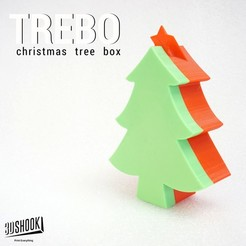 Free 3d print files TREBO XMAS Tree Box, 3DShook