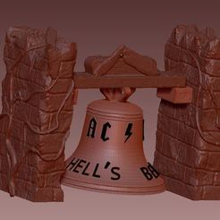 Free STL files bell ac / dc, hell's bell, syl39