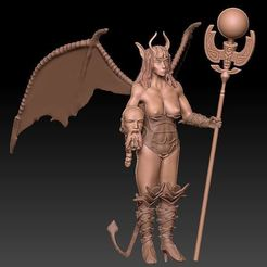 Capture3.JPG Download free OBJ file succubus goddess of hell • 3D printing template, syl39