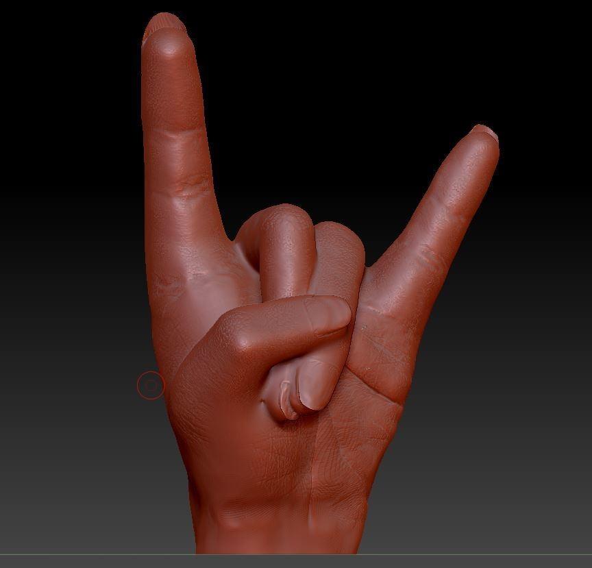 main hard rock.JPG Download free OBJ file hand hard rock • 3D printer model, syl39
