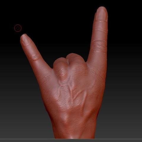 main hard rock1.JPG Download free OBJ file hand hard rock • 3D printer model, syl39