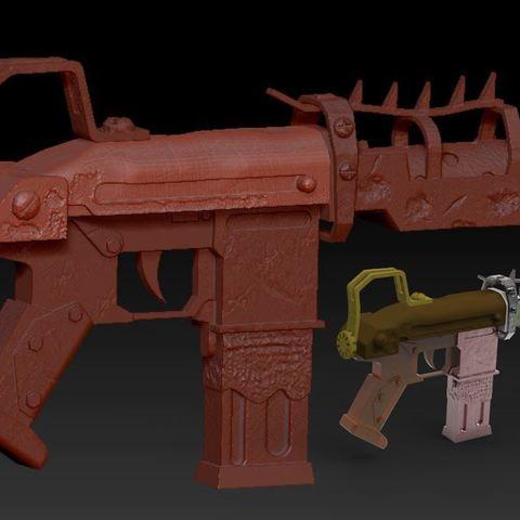 Objet 3D gratuit pistollet mitrailleur fortnite, syl39