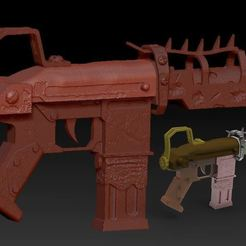 Descargar modelos 3D gratis pistolero fortnite, syl39