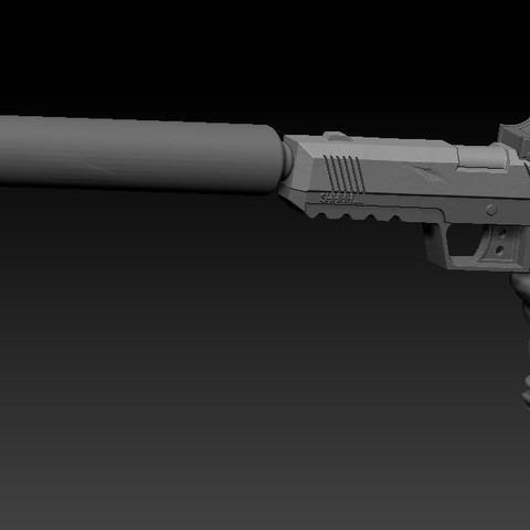 Download free STL files pistolet fortnite / gun fortnite, syl39