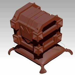coffre_clash_royal1.JPG Download free STL file clash royal, chest • 3D printing object, syl39