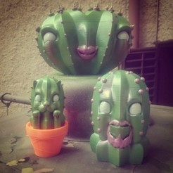Download free 3D printer templates Cactus family, Bauermaker