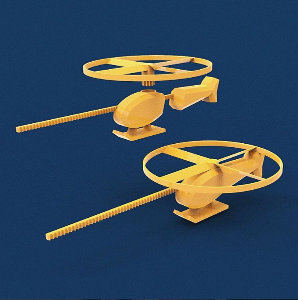 Helicopter Render.png Download free STL file Flying Helicopter Toy • 3D printer object, 3DBROOKLYN