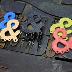 Download free 3D printing templates Ampersand Carabiner, 3DBROOKLYN