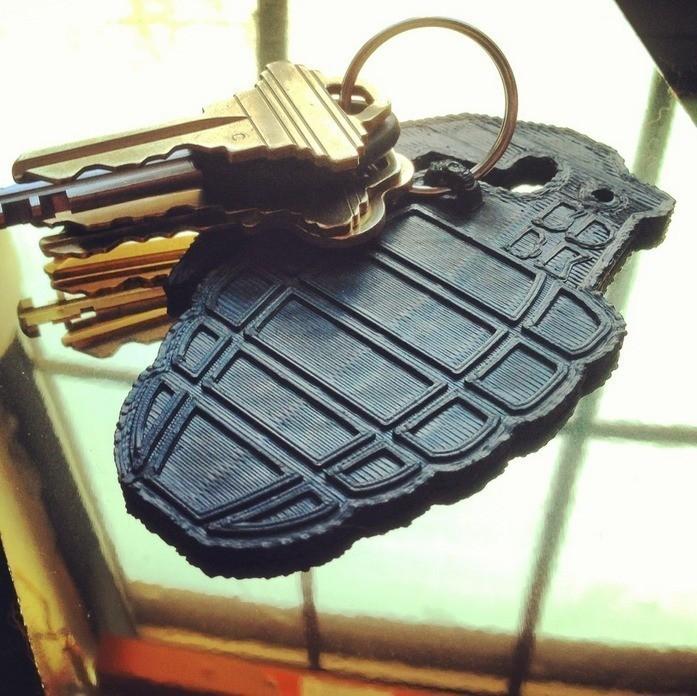 1.jpg Download free STL file Grenade Key Clip • 3D printing design, 3DBROOKLYN