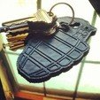 Free 3d printer designs Grenade Key Clip, 3DBROOKLYN