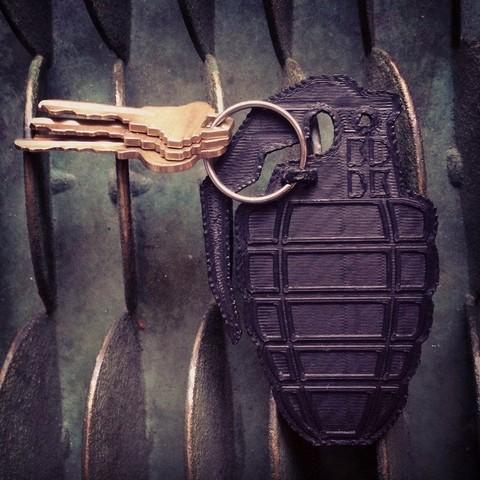 2.jpg Download free STL file Grenade Key Clip • 3D printing design, 3DBROOKLYN