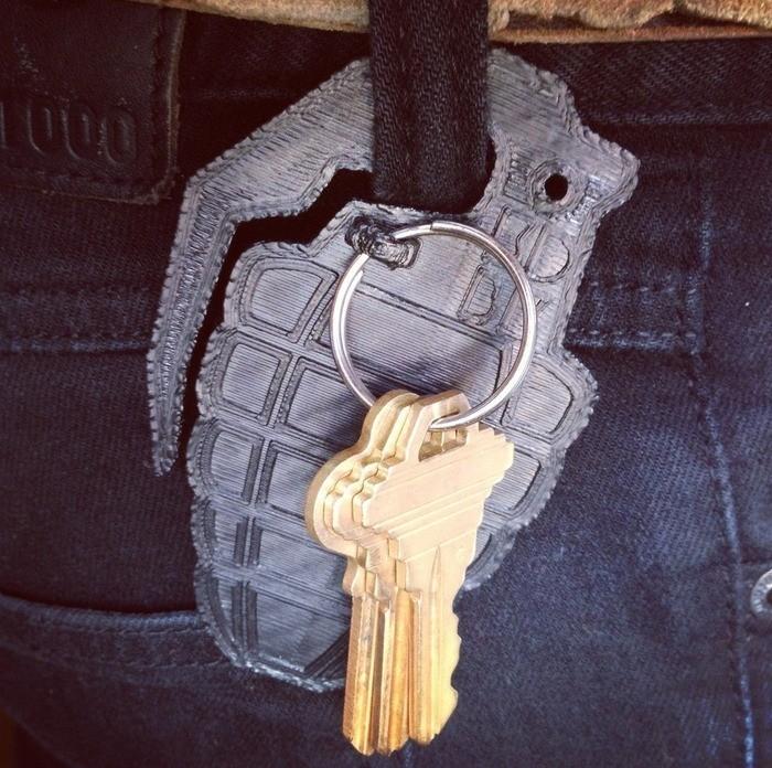 3.jpg Download free STL file Grenade Key Clip • 3D printing design, 3DBROOKLYN