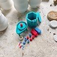 Free Pottery Wheel & Kiln Toy Set 3D model, 3DBROOKLYN