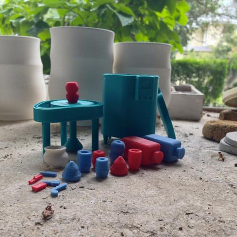 2.jpg Download free STL file Pottery Wheel & Kiln Toy Set • 3D printing template, 3DBROOKLYN