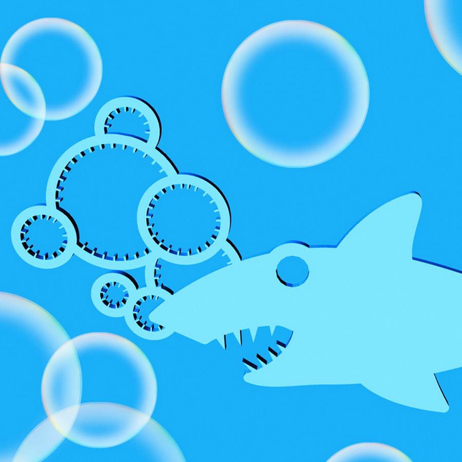 1.jpg Download free STL file Shark Bubble Wand • 3D printer template, 3DBROOKLYN
