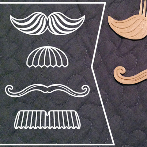2.jpg Download free STL file Movember Stache Combs • 3D printable template, 3DBROOKLYN