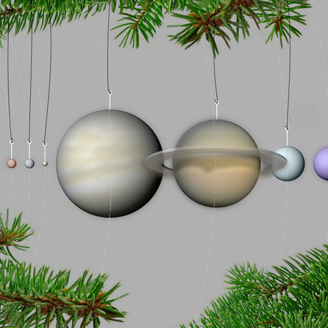 Free stl Our Planets - Ornaments, 3DBROOKLYN