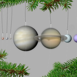 Download free STL Our Planets - Ornaments, 3DBROOKLYN