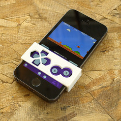 1.jpg Download free STL file Gameboy Button Faceplate For iPhone | GBA4iOS • 3D printable design, 3DBROOKLYN