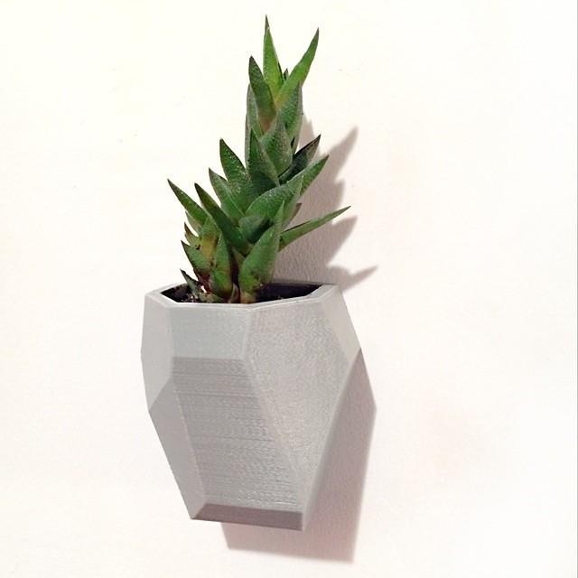 1.jpg Download free STL file Faceted Modular Wall Planter • 3D print template, 3DBROOKLYN