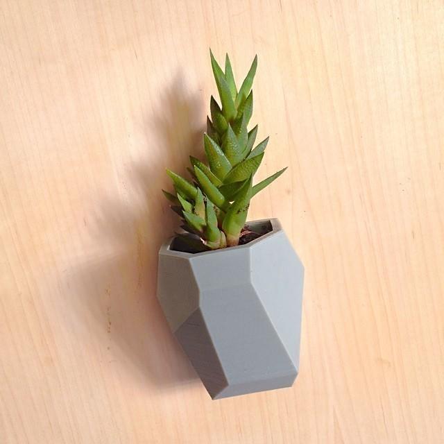 5.jpg Download free STL file Faceted Modular Wall Planter • 3D print template, 3DBROOKLYN