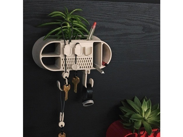 285ddbfe8d6a76debd18a45280629bb6_preview_featured.jpg Download free STL file Wall Organizer • 3D printing object, 3DBROOKLYN