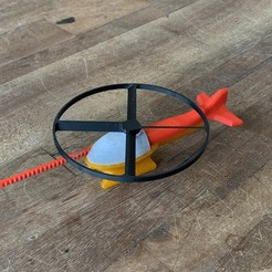 Download free STL file Flying Helicopter Toy (NEW) • 3D printable model, 3DBROOKLYN