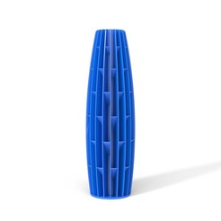 TOWERS-04-FRONT-NOBLEBLUE.JPG Download STL file TOWERS VASE 04 • 3D printer template, martin_zampach