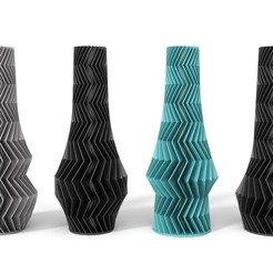 ZIGZAG-COLLECTION.JPG Download OBJ file ZIGZAG VASE COLLECTION • 3D print object, martin_zampach