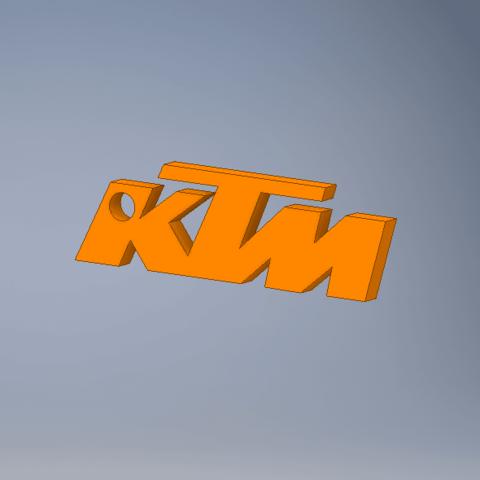 Free 3d printer files KTM motorcycle key holder, Noah