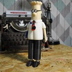 Free Dilbert 3D printer file, StasPimenov