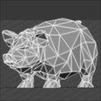 pig 3d stl.jpg Download STL file Pig low poly • 3D printing model, 3dpark