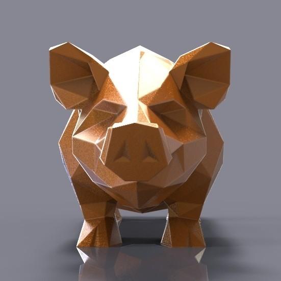 pig.jpg Download STL file Pig low poly • 3D printing model, 3dpark